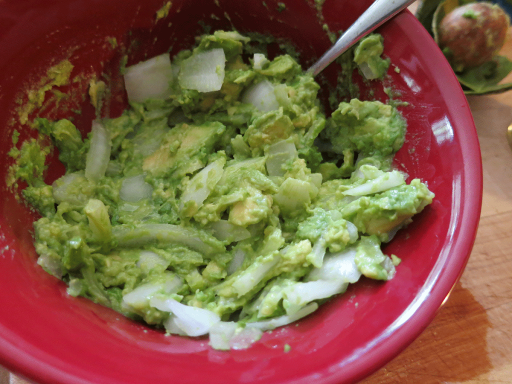 Add Onion to Avocado